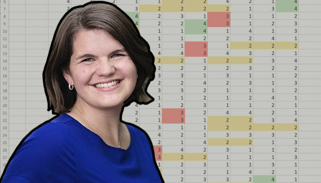 Sigrid elsker tall, og vil hjelpe folk ved å undersøke dem nærmere.