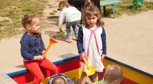 Jenter og gutar bevegar seg ulikt i barnehagen