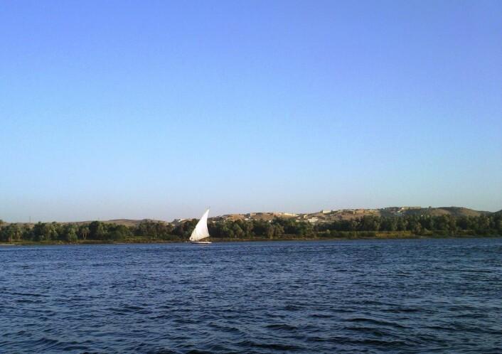 - Miljøvern er dypt forankret i hverdagen til folk flest i Sør, sier Elmusa. Bildet viser en tradisjonell Felucca-båt seiler på Nilen  i nærheten av Aswan. (Foto: Kristin Straumsheim Grønli)
