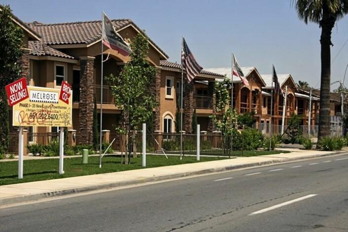 Los Angeles 2008: Flere drives fra hus og hjem og USAs boligkrise blir stadig verre. Långivere tar på seg skyld, salget av nye boliger faller, boligbyggingen stagnerer, lånekrisen varer og tvangssalgene eksploderer. (Foto: Scanpix, Gry Winther)