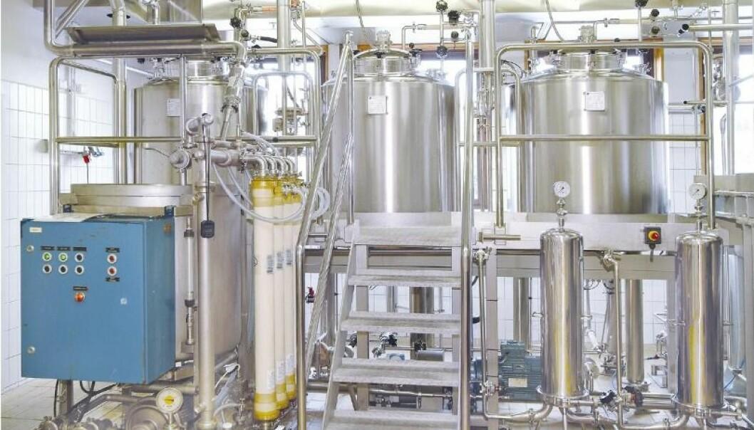 I dag produseres betaglukan med dette utstyret.