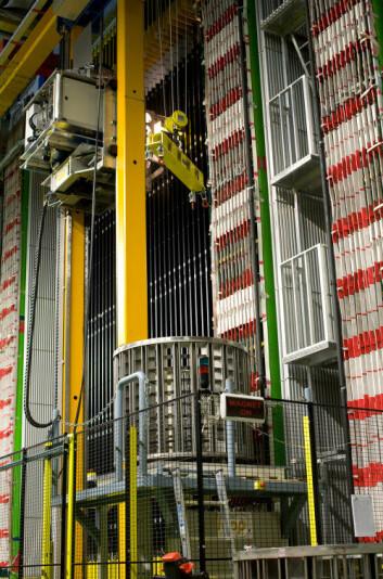 OPERA-detektoren ved Gran Sasso National Laboratory i Italia. (Foto: National Institute of Nuclear Physics Italy)