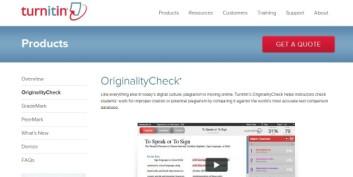 Tekstmatchingsprogrammer som TurnItIn.com har hjulpet redaktører og forskere å oppdage når gamle resultater presenteres som nye. (Foto: (Bilde: Skjermdump))