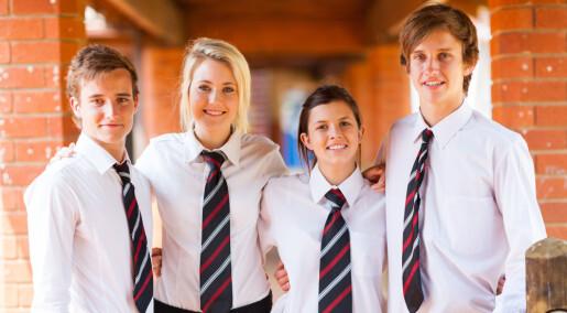 Norske foreldre er åpne for skolemat og skoleuniform