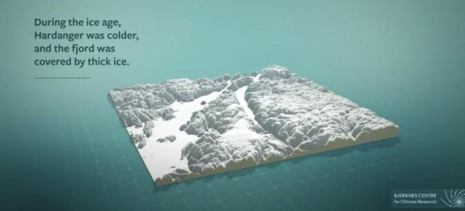 3D-modell av Hardangerfjorden.