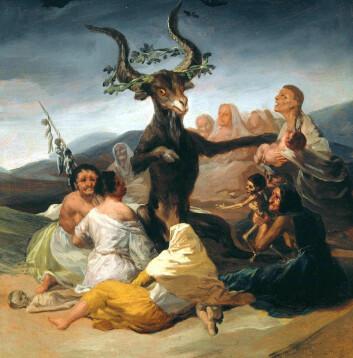 Witches' Sabbath av Francisco Goya, 1789.