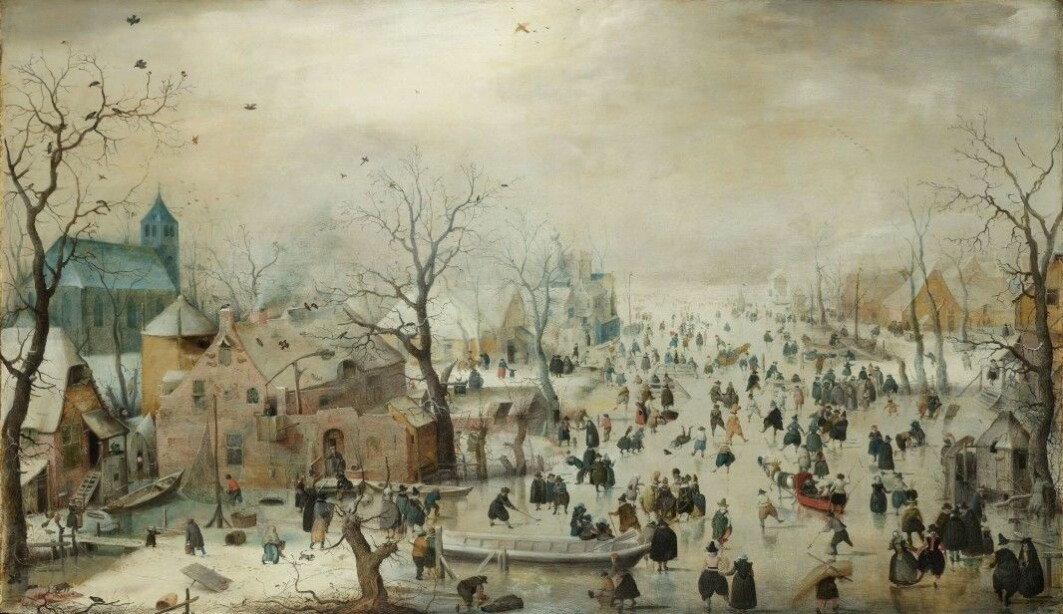 During the period known as the Little Ice Age, temperatures dropped. This painting by Hendrick Avercamp is inspired by the cold periods, when people could ice skate on rivers and lakes in the Netherlands.