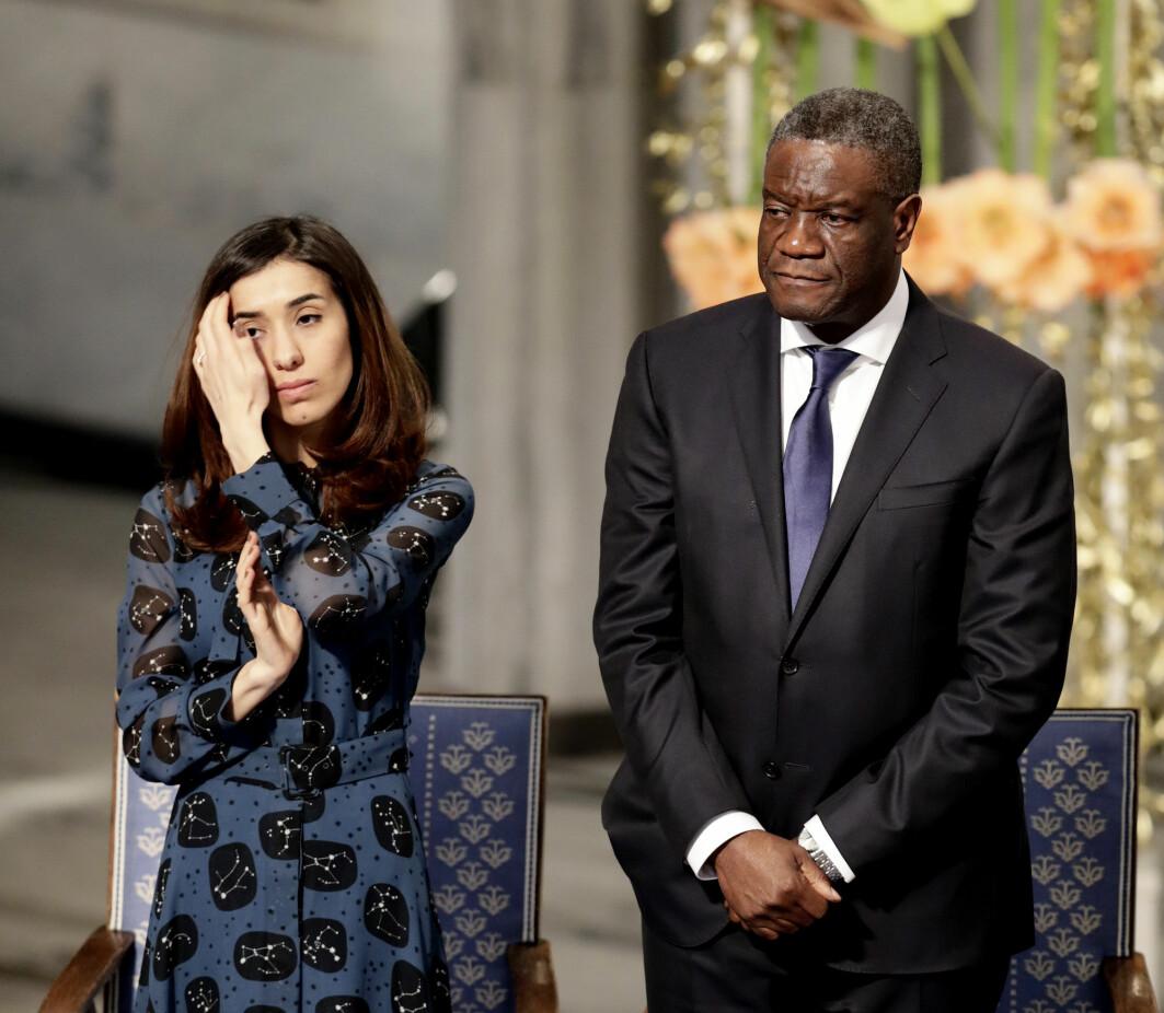 Kvinner har stor betydning for fred: I 2018 fikk Nadia Murad og Denis Mukwege Nobels fredspris for sin «kamp mot seksualisert vold brukt som våpen i krig og væpnede konflikter».