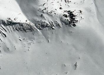 """""""Dette er baseområdet før russerne hadde begynt å bygge der, og før prøvesprengningen. Bildet er tatt våren 1967, og er et nedgradert amerikansk spionsatellittbilde. Det viser detaljer ned til 60 cm, ifølge Skorve."""""""