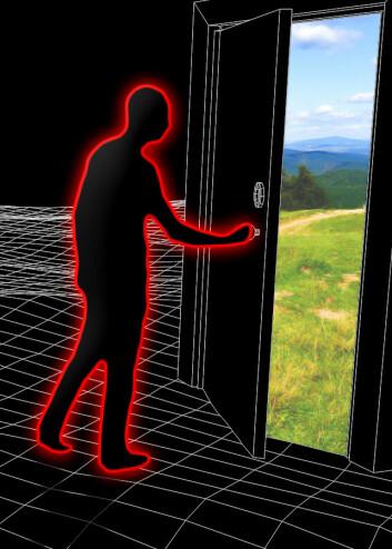 Fysikeren Silas Beane har foreslått et eksperiment for å finne ut om vi er simuleringer i et større univers utenfor. (Foto: (Illustrasjon: Per Byhring, forskning.no))