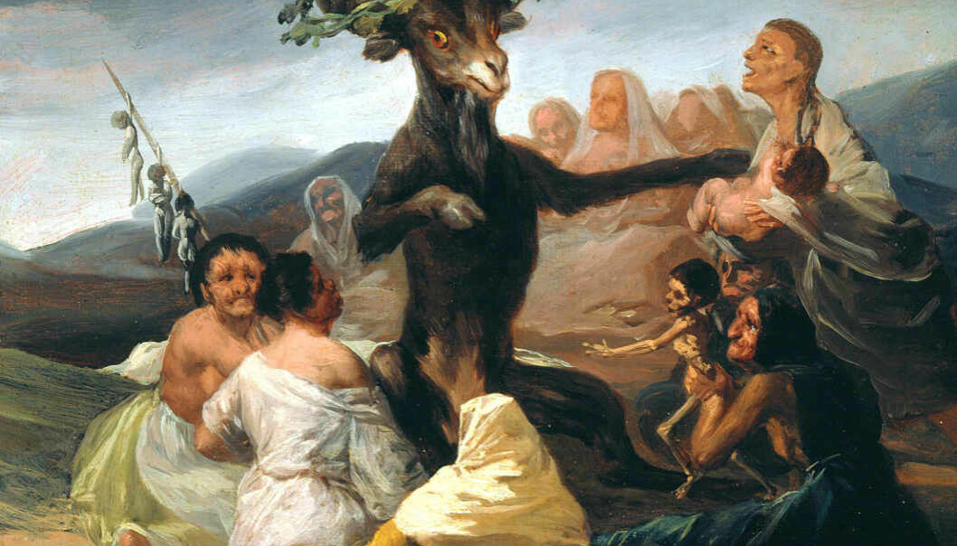 Witches' Sabbath av Francisco Goya, 1789.