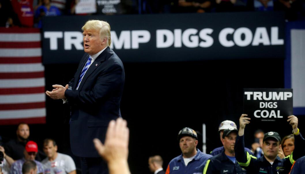 Trump har blant annet ønsket å revitalisere USAs kullindustri.