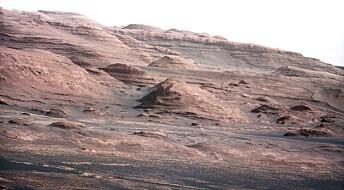 Steinhauger på Mars kan være spor etter kjempeflom