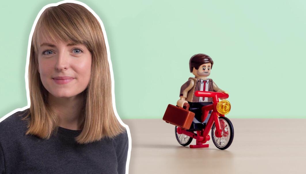 Lina Ingeborgrud mener at byer må bygges sånn at det er enkelt for innbyggerne å sykle, gå, ta buss eller trikk.