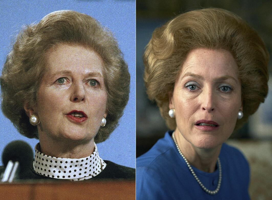 Hjernen vår husker bedre Gillian Anderson som Margaret Thatcher, enn Thatcher som seg selv. Har det konsekvenser for historieforståelsen vår?