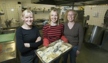 """""""Anita Hansen, Lene Bakke og Lisbeth Dahl driv prosjektet i Bergen fengsel som skal teste om innsette får betre impulskontroll av å ete feit fisk."""""""