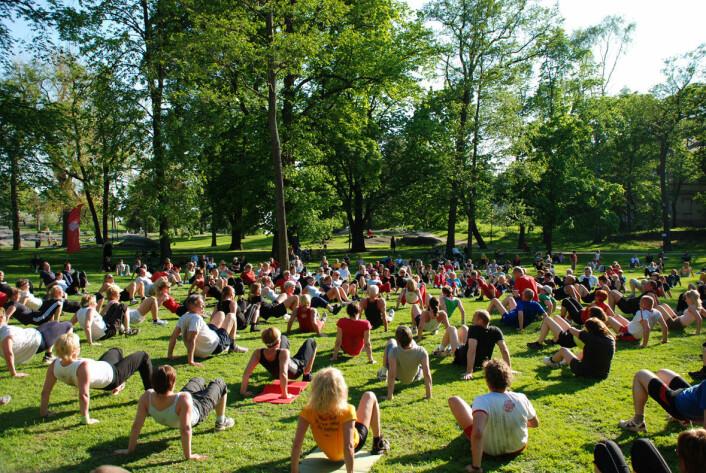 Friskis og Svettis er en måte å komme seg i aktivitet på. Men for mange er det tungt å begynne å trene. (Foto: Wikimedia Commons)