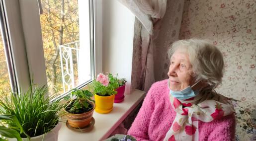 Eldre pasienter på pleieinstitusjon bekymret seg lite for covid-19