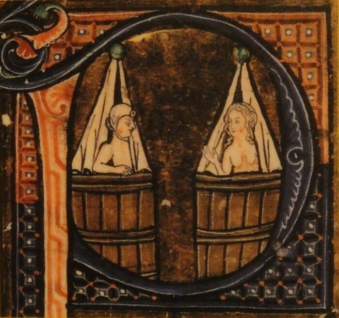 Middelalderfolk badet også, til tross for en seiglivet oppfatning om at de ikke gjorde det.