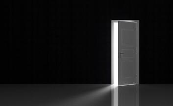 Forestill deg dette mørke rommet og pupillene vil utvide seg. Tenk at døren åpner seg og lyset strømmer inn i rommet. Kjenner du at pupillene utvider seg? (Illustrasjonsfoto: www.colourbox.no)