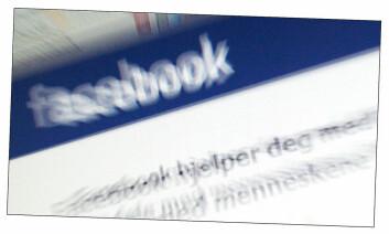 Motivet viser utsnitt fra åpningssiden på Facebook. (Foto: Andreas R. Graven)