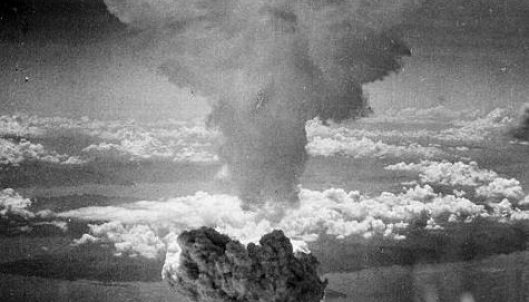 Bomben over Nagasaki, 9. august 1945 (Foto: Wikimedia Creative Commons)