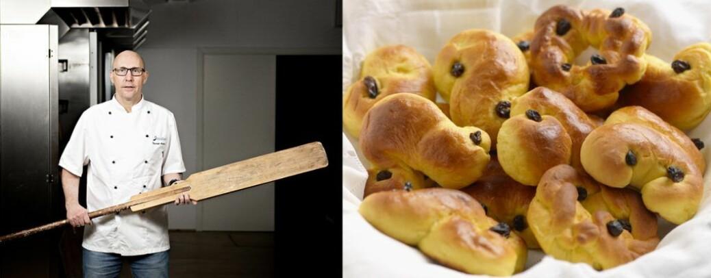 Til lussekattene er det gulrot som er favorittgrønnsaken til Nofima-baker Fredrik Andresen.