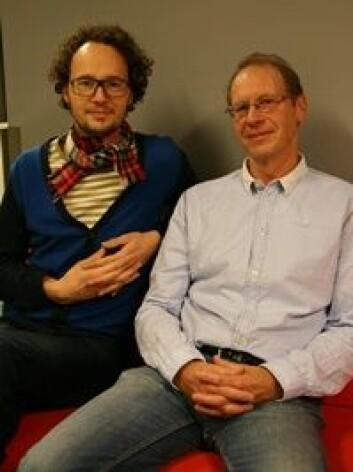 Kjetil van der Wel og Espen Dahl. (Foto: Elin Fugelsnes)