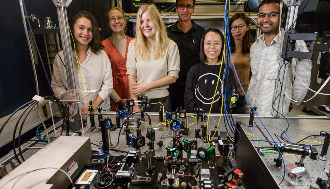 Forskergruppen som har kontrollert fotonene.