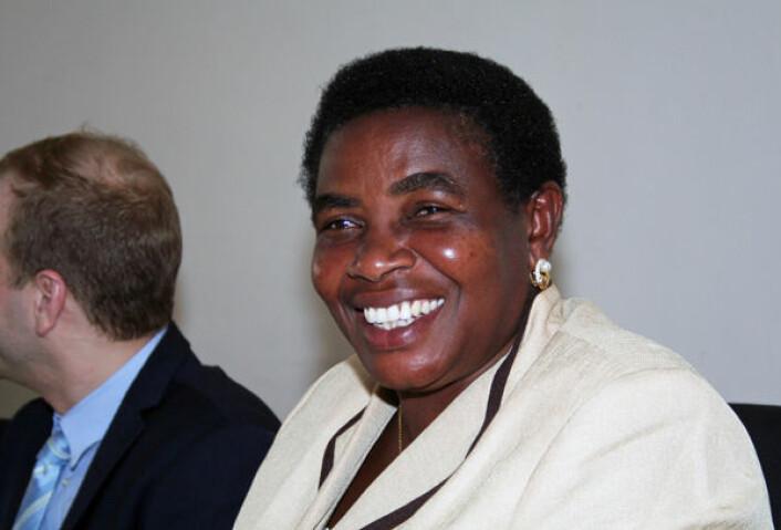 Global oppvarming er ikke skapt av afrikanske land, sier Tanzanias miljøvernminister Terezya P. L. Huvisa. Frykten er at det er Afrika som blir sittende med regningen. (Foto: Asle Rønning)