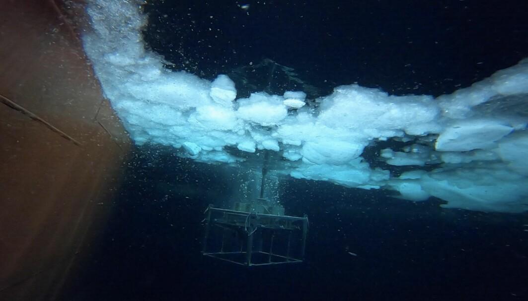 Rør fulle av havbunnssedimenter vil snart være på dekk.