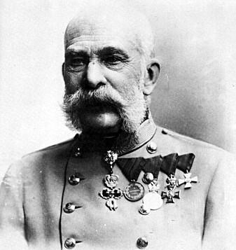 Franz Joseph I ett år før han døde i 1916.
