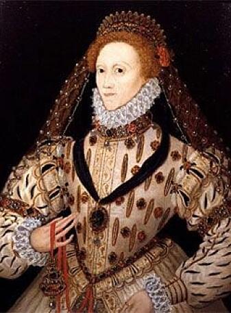 Dronning Elizabeth I med pomander i beltet, c. 1580.