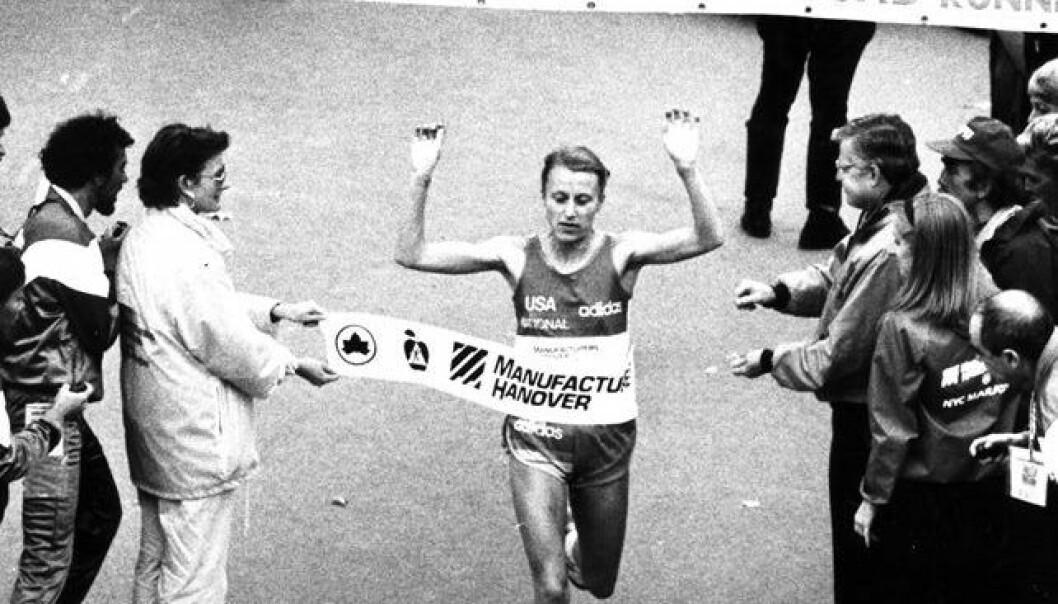 Grete Waitz vant alt fra 800-meter til maraton i samme sesong, noe som er unikt. Her vinner hun i 1986 New York maraton for åttende gang. NTB Scanpix/Dag Bæverfjord