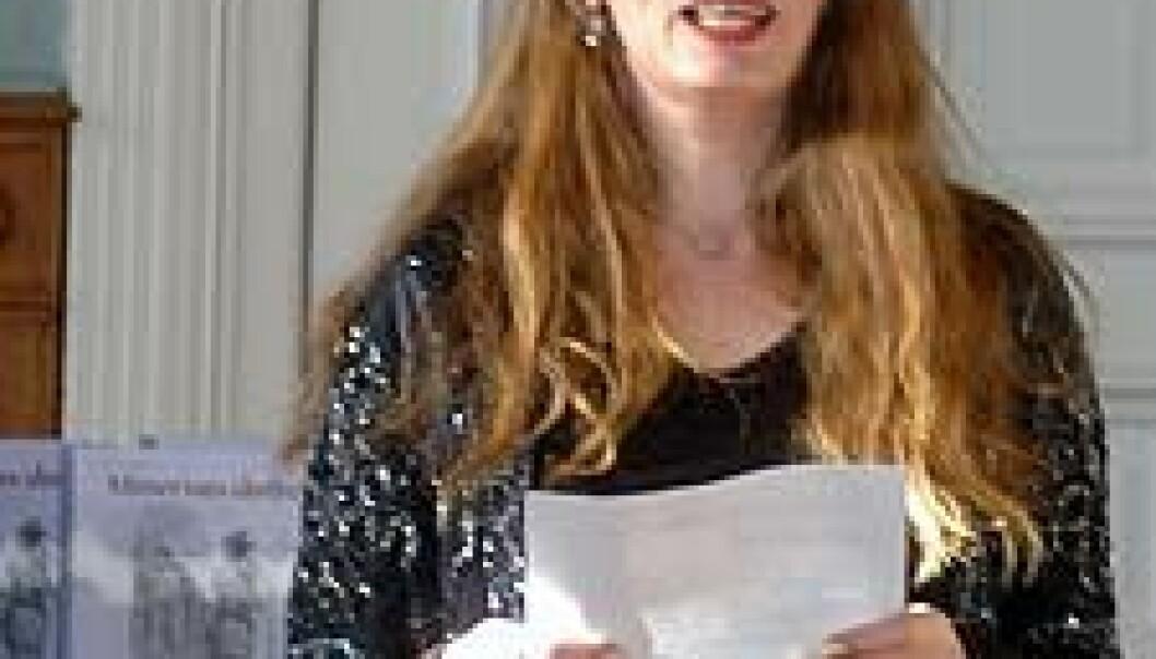 """""""Linda Sangolt ved lanseringen av boken (Foto: Silje Gripsrud)."""""""