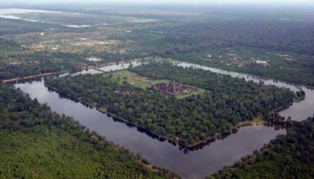 """Angkor Wat sett fra lufta."""
