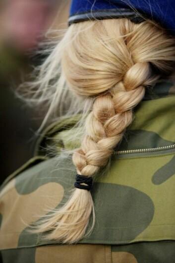 Kvinner truer de den stereotype oppfatningen av idealsoldaten. (Foto: Torgeir Haugaard/ FMS)