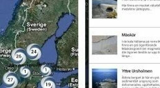 På tur med geologi-app