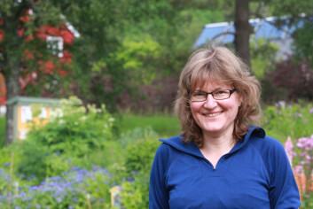 Prosjektleiar Susanne Friis Pedersen ved Bioforsk Økologisk. (Foto: Anita Land)
