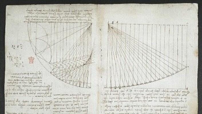 Geniets notater inneholder mye tekst og illustrasjoner. Dette er bare én av de flere hundre sidene som du kan utforske på bibliotekets nettsider. (Foto: British Library)