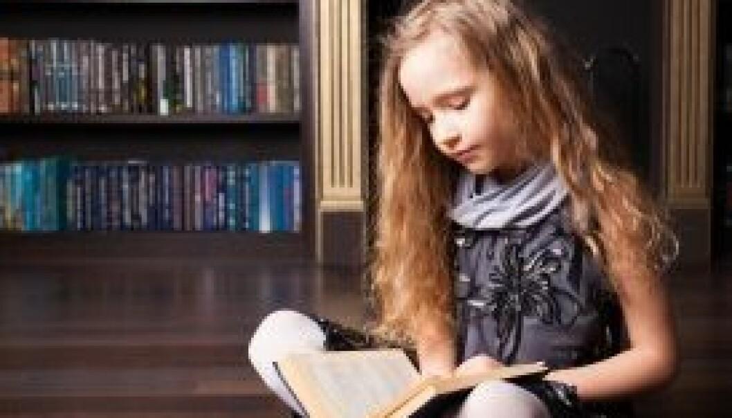 Leser bøker og holder seg slanke