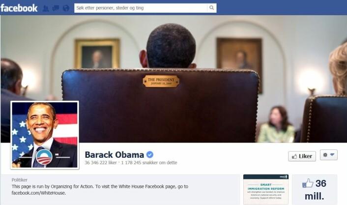 (Foto: skjermdump fra en av Obamas Facebooksider)