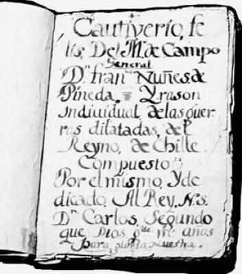I 1690 skreiv Alonso Ramirez boka Infortunios. Forskar Leonor Taiano har funne ut at boka, som folk i nærare 300 år trudde var ein roman, er ei fangeforteljing. (Foto: Scientific electric library online)