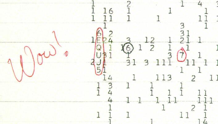 Astronom Jerry R. Ehman oppdaget avvik i data fra Big Ear radio teleskopet i 1977. Inskripsjonen hans på en utskrift har gitt navn til signalet.