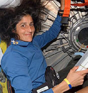 """""""Suanita Williams på den internasjonale romstasjonen. Foto: NASA"""""""