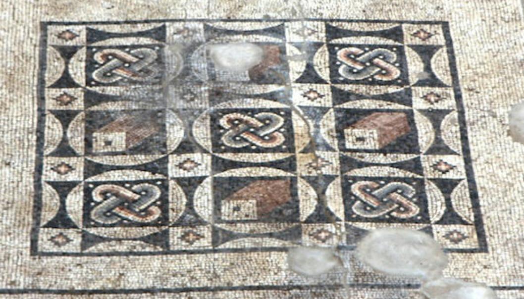 Romersk mosaikk i Antoichia ad Cragum. Michael Hoff, University of Nebraska-Lincoln