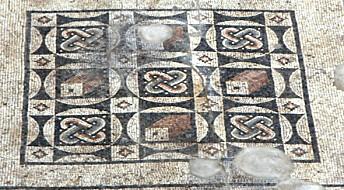Fant enormt romersk mosaikkgulv