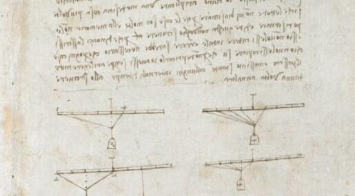 Her kan du lese Da Vincis notatbok