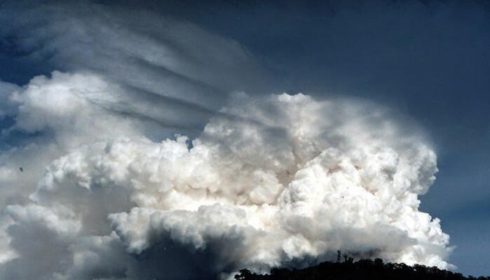Både skyer...