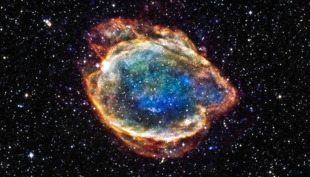 Dette er restene av en supernova type 1a, som også brukes i den kosmiske avstandsstigen. Denne er i vår egen galakse.